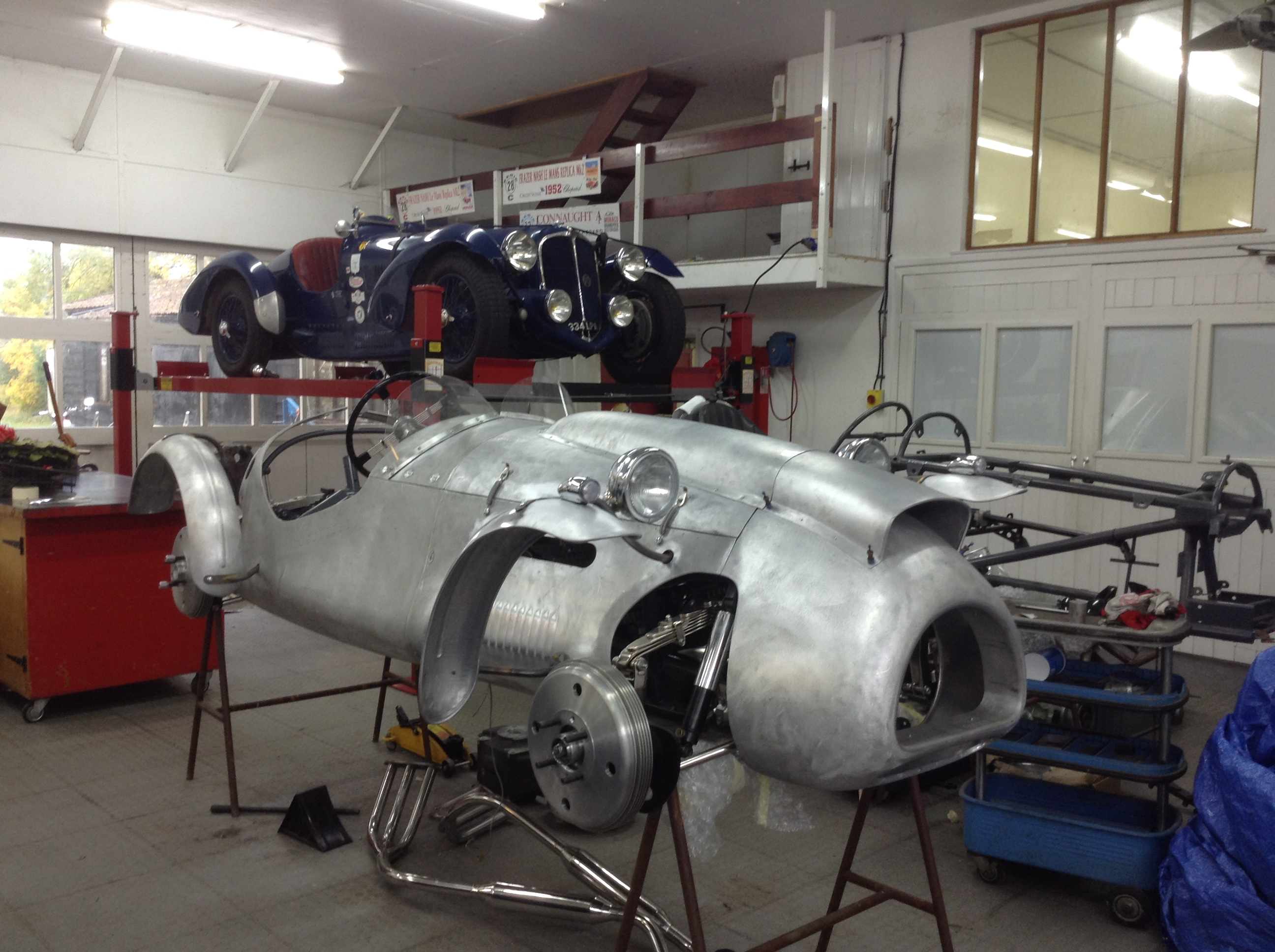 Our two seat Cooper Bristol is nearing completion